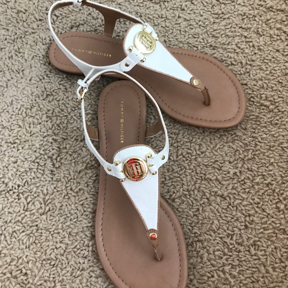Tommy Hilfiger Whitecream Thong Sandals